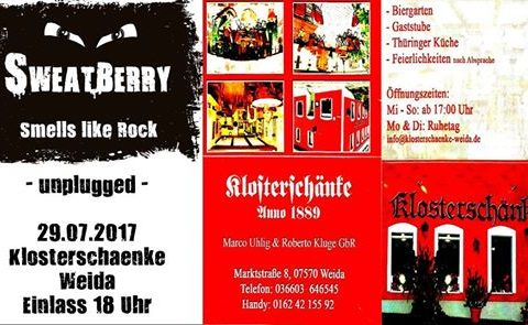 SWEATBERRY – unplugged in der Klosterschänke Weida